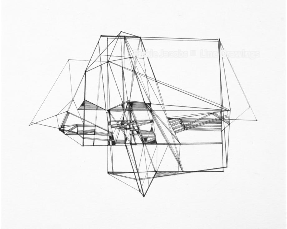 """Lines-06 (16.75x14"""")"""