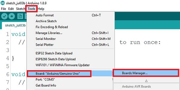 arduino esp8266 kurulum adımları