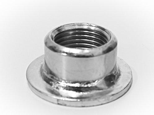 """Grundplatte rund 1/2"""" Muffe mit Loch 8mm, 10mm"""