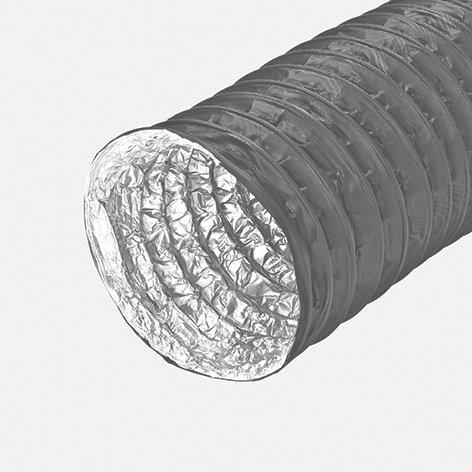 Hochflexibler Alu-Schlauch, 5-lagig, 1 Lage PVC sz, L=10m