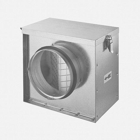 Luftfilterbox mit Filterklasse F5, mit SAFE-Lippendichtung