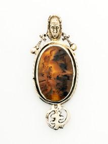 African Symbol Brooch