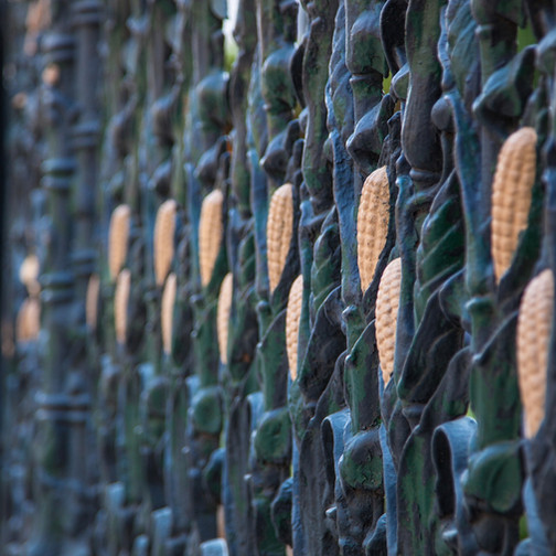 Detail of Fence Present day