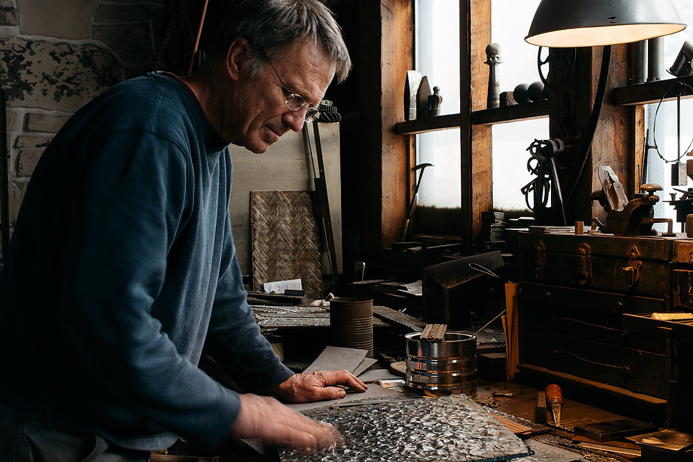 David Secrest in his studio. Image: Houston Cofield