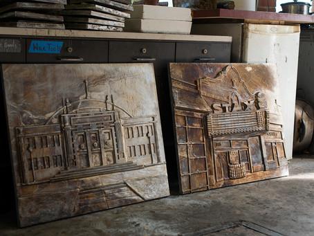 Metal Museum Foundry Cast Art Tiles at LaRose Elementary