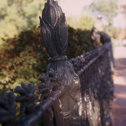 Fence detail Present day
