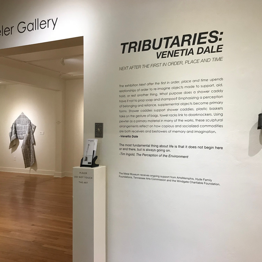 """Tributaries: Venetia Dale"" installation. Image courtesy of the Metal Museum."