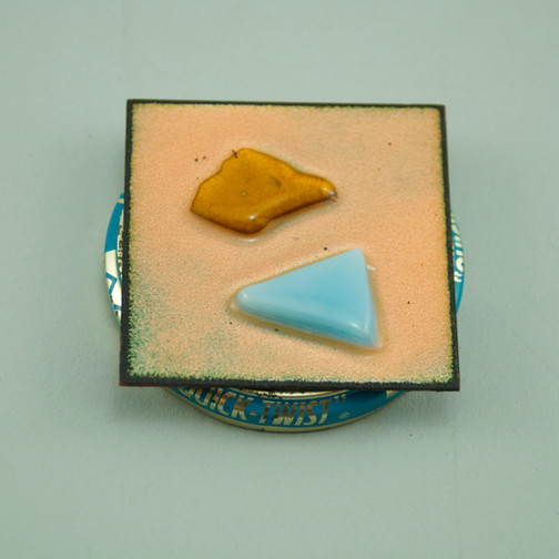 c. 1955-1988 Copper, enamel Donated by Paul Edelstein in Memory of Danny Cook and Emily Klyce Fisher 1995.1.1