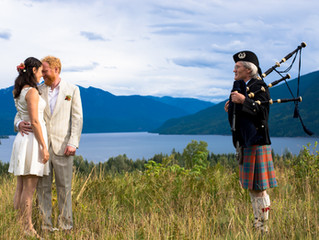 Beautiful Wedding Perched Above Slocan Lake