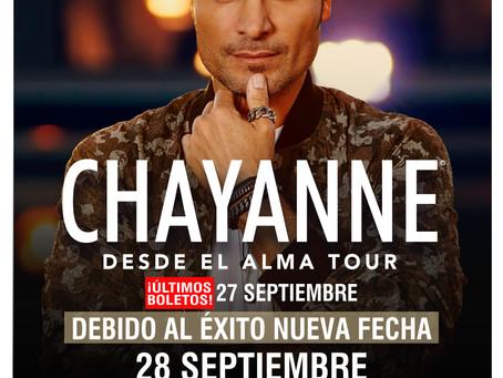 Debido al gran éxito, Chayanne anuncia una segunda fecha en Puebla