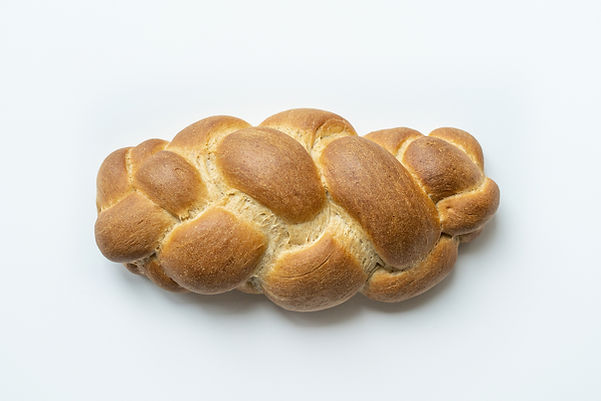 Whole wheat vegan Challah bread isolated