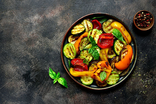 Grilled vegetables (  colorful bell pepp