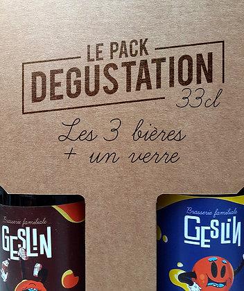Pack Dégustation • 33cl + 1 verre