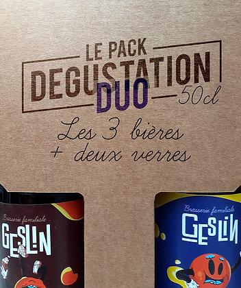 Pack Dégustation DUO • 50cl + 2 verres