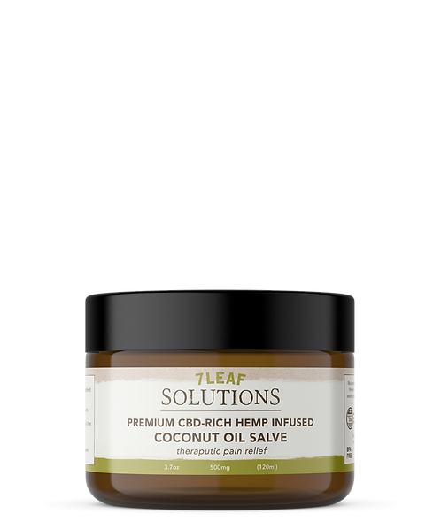 CBD-RICH HEMP INFUSED COCONUT OIL SALVE (500 MG CBD) 3.7 OZ