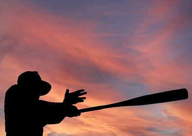 Jeff Palicki Photography Baseball Silhoutte with Pink Sky