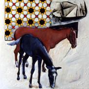 Arab Mosaic Horses - 1988