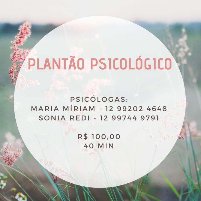 O que é o plantão psicológico?