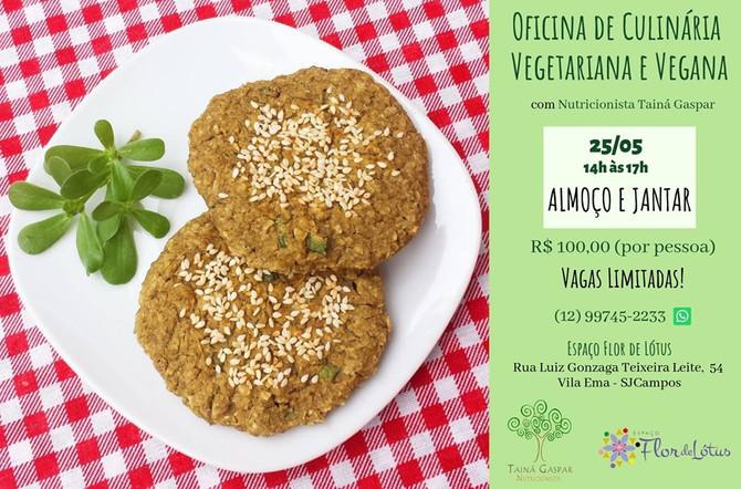 Oficinas de Culinária Vegetariana e Vegana no Espaço Flor de Lótus