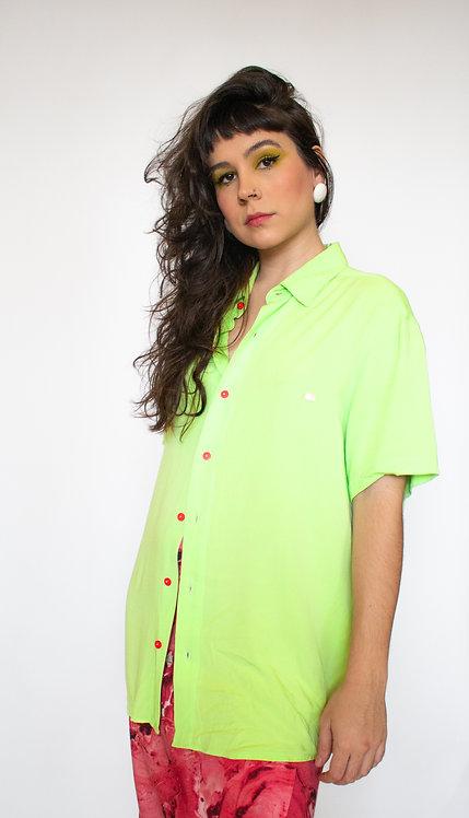 Camisa lisa Verde Ácido