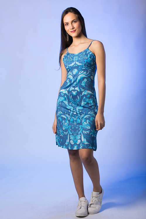 Vestido Mistério dos Rios Azul