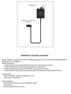 Intercomm simple pour TPH 700/900