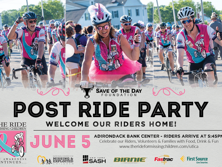 SOD FOUNDATION TO SPONSOR RIDE FOR MISSING CHILDREN POST RACE PARTY