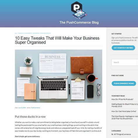 10 Easy Tweaks That Will Make Your Business Super Organised