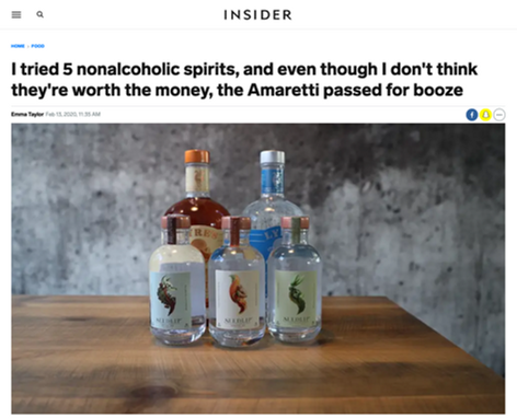 I tried 5 nonalcoholic spirits, and even though I don't think they're worth the money, the Amaretti passed for booze