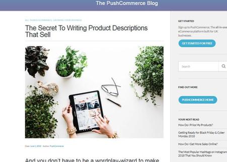 PushCommerce The secret to writing produ