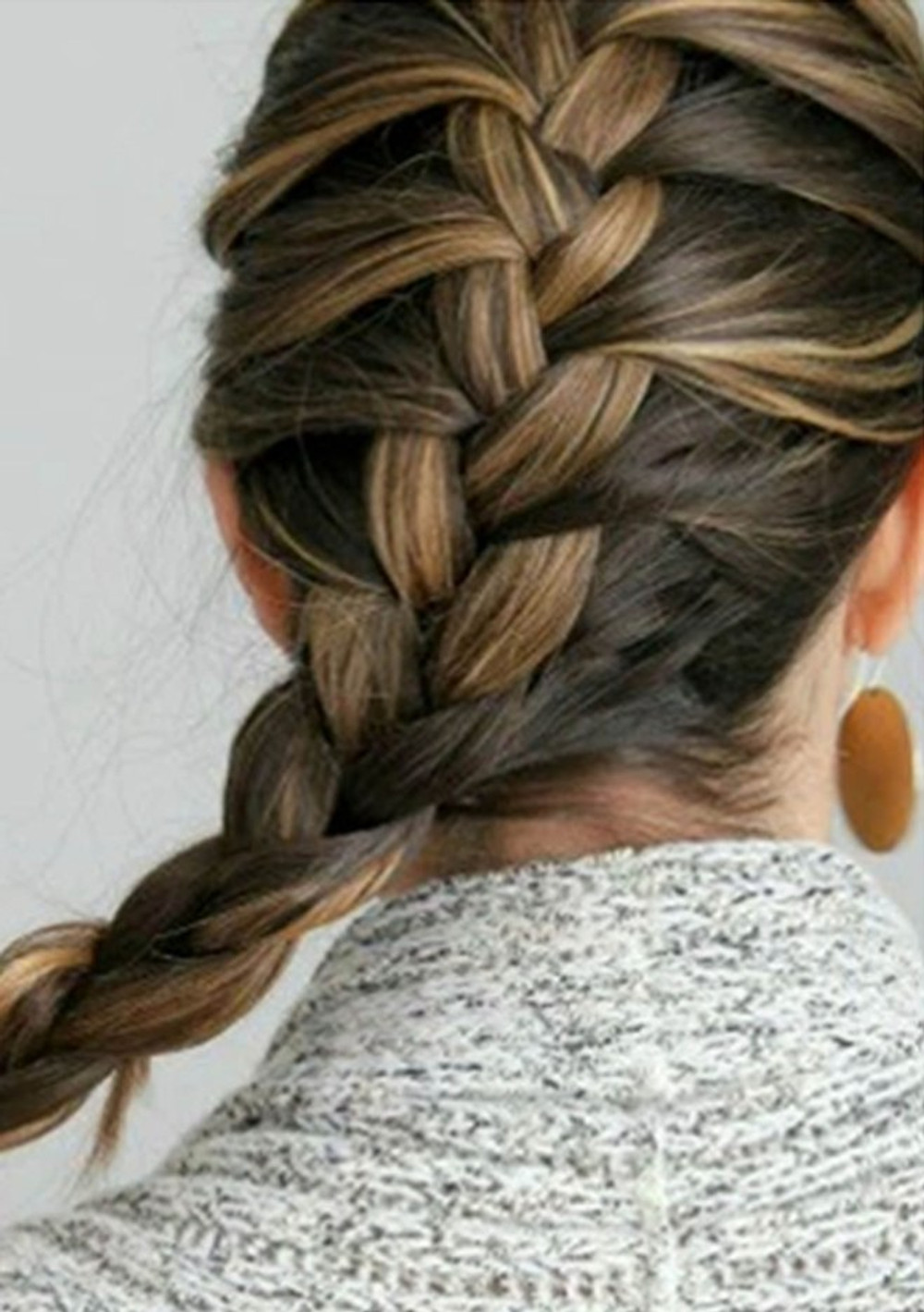 skiing hairstyle french plait