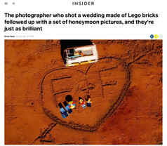 The photographer who shot a wedding made of Lego bricks followed up with a set of honeymoon pictures, and they're just as brilliant