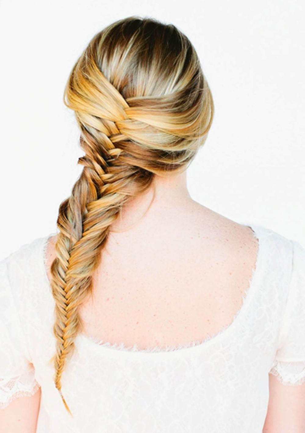 fish tail braid skiing hair idea