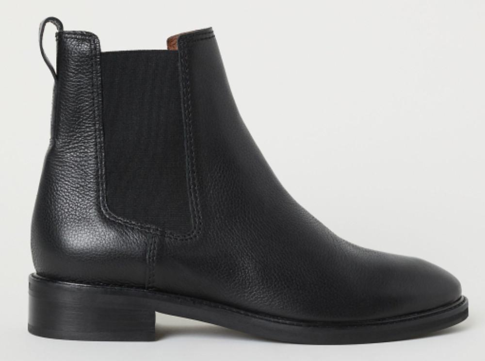 black h&m chelsea boot