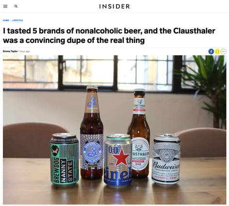 I tasted 5 brands of nonalcoholic beer, and the Clausthaler was a convincing dupe of the real thing