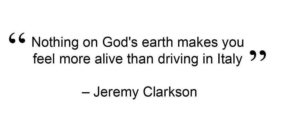 italy driving jeremy clarkson quote