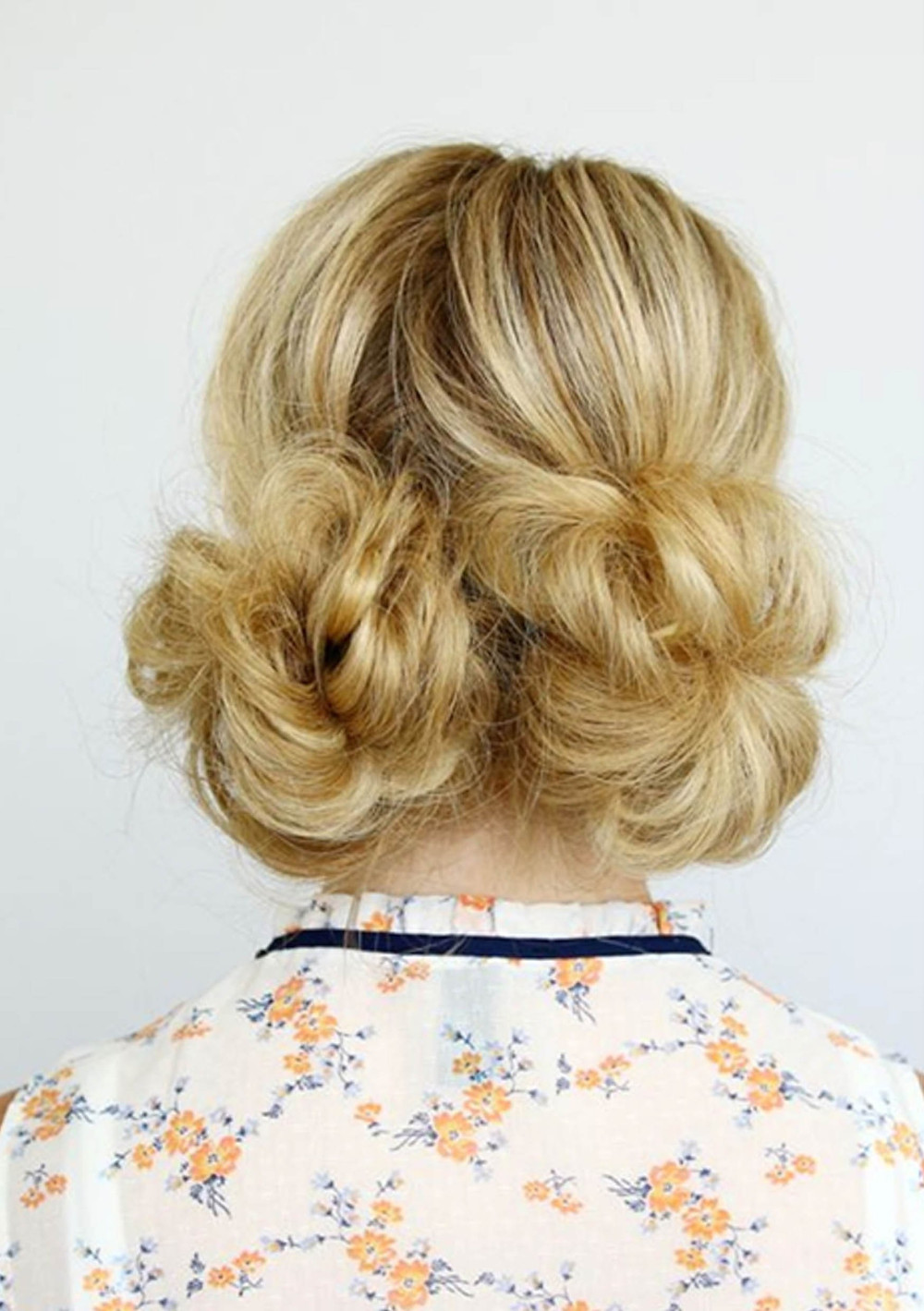 90s double bun hairstyle
