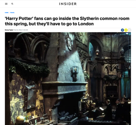 'Harry Potter' fans can go inside the Slytherin common room this spring, but they'll have to go to London