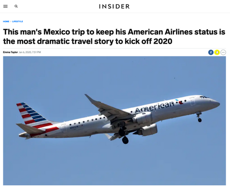 This man's Mexico trip to keep his American Airlines status is the most dramatic travel story to kick off 2020