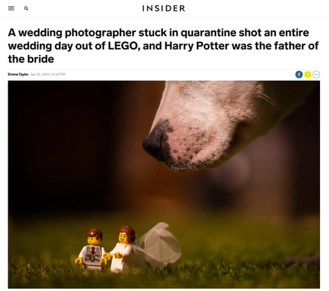 A wedding photographer stuck in quarantine shot an entire wedding day out of LEGO, and Harry Potter was the father of the bride