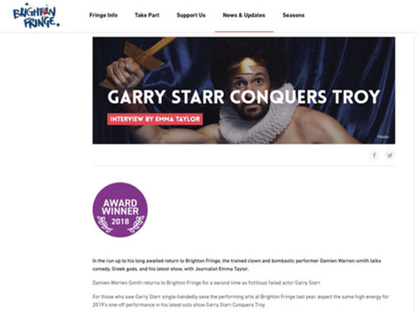 Interview – Garry Starr Conquers Troy