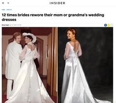 12 times brides rewore their mom or grandma's wedding dresses