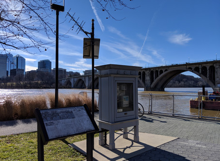 Measuring the Potomac River Height at Georgetown Waterfront Park