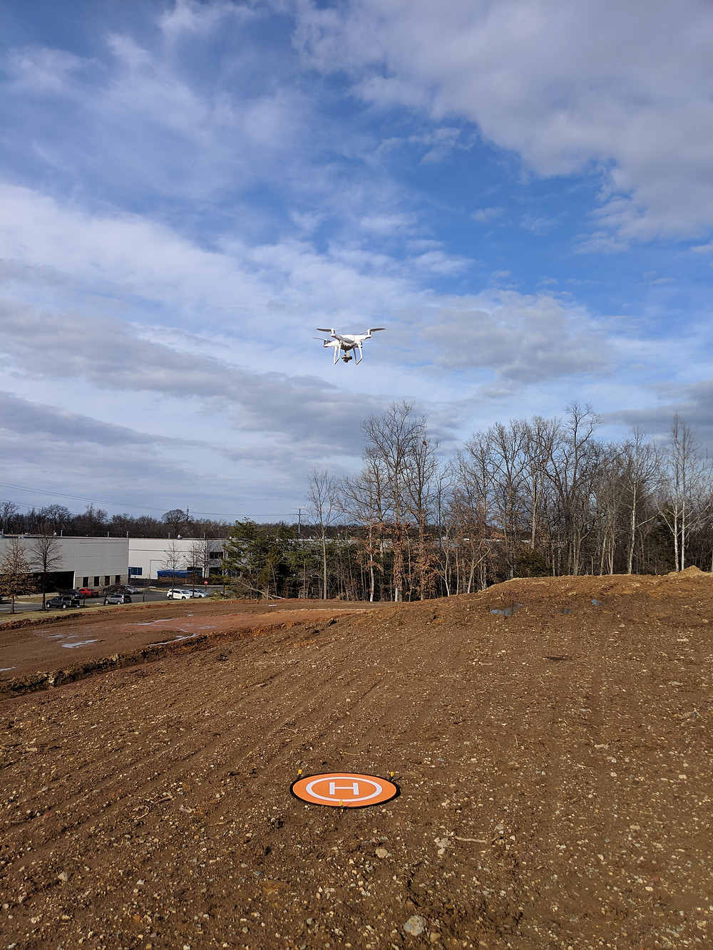 UAS flying to it's predetermined altitude.