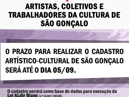 Notícias | Prazo para artistas gonçalenses na Lei Aldir Blanc!