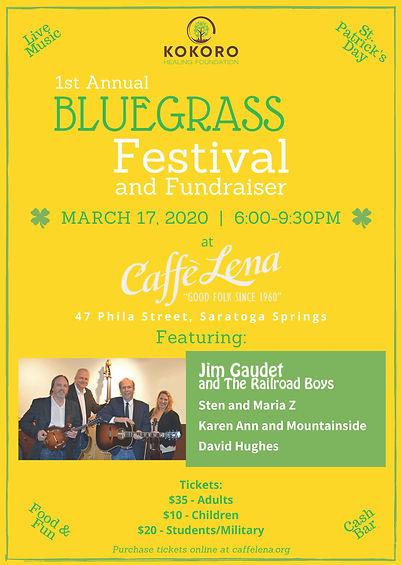 KHF Bluegrass Fundraiser Promotion Flyer