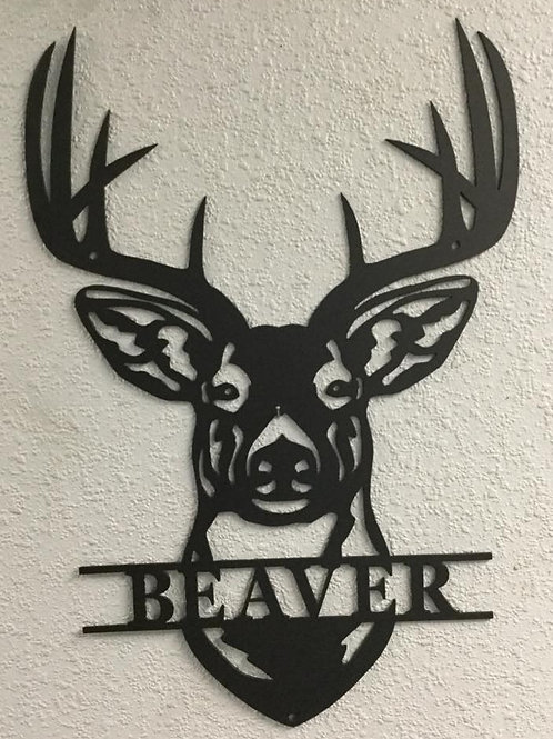 Deer Monogram With Last Name