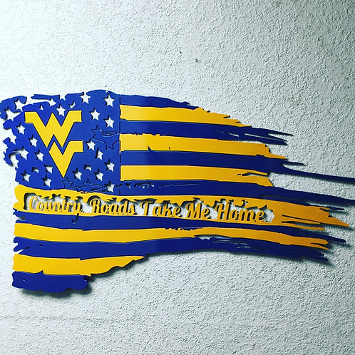 West Virginia Flag Country Roads