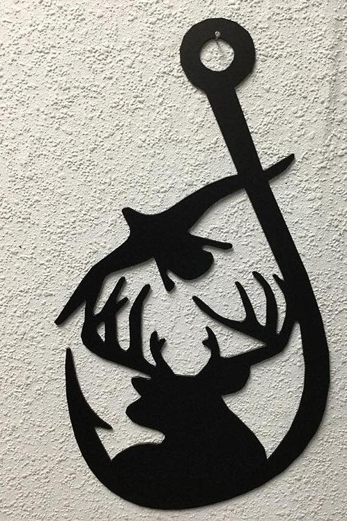 Deer and Duck in Fish Hook