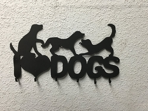 I Heart Dogs with Key Hooks